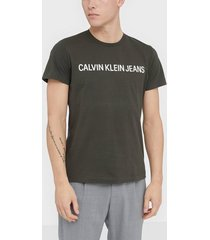 calvin klein jeans institutional logo slim ss tee t-shirts & linnen black