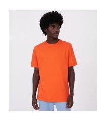 camiseta manga curta easy fit | blue steel | laranja | g