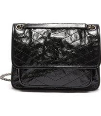 'niki medium' natural calfskin leather shoulder bag