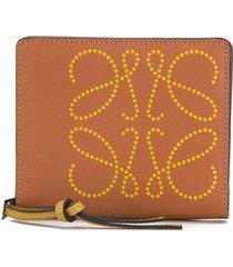 loewe monogram square wallet - brown