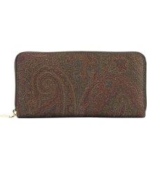 etro paisley zip wallet