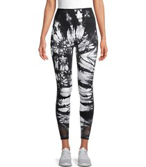tie-dyed stretch leggings