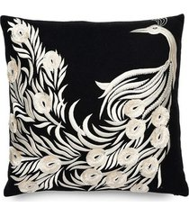 natori mayon peacock embroidery pillow case natori