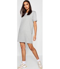 roll back ponte shift dress, grey marl