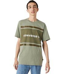 converse camiseta de manga corta colorblock