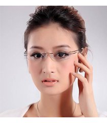 designer womens rimless titanium glasses frames eyeglasses flexible optical rx