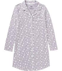 camicia da notte in cotone biologico (grigio) - bpc bonprix collection