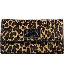 billetera mum leopardo marrón cupida