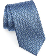 men's nordstrom men's shop geometric silk tie, size regular - blue