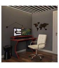cadeira de escritório tesoureiro giratória fitz bege