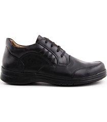 zapatos de amarrar casuales  negro caprino