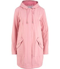 parka in softshell con cappuccio (rosa) - bpc bonprix collection