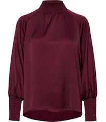 di blouse blouse lange mouwen paars by malina
