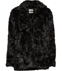 minimal. outerwear faux fur zwart tiger of sweden jeans