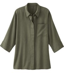 oversized blouse uit tencel™, olijfgroen 40/42