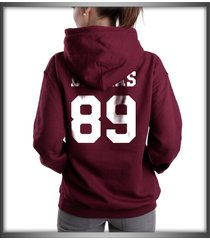 dallas 89 white ink cameron dallas printed on back of maroon hoodie s to 3xl