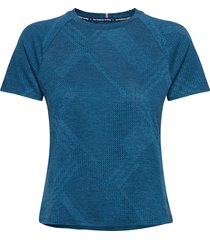 q speed fuel jacquard ss t-shirts & tops short-sleeved blå new balance