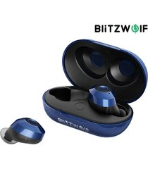 [azultooth v5.0] blitzwolf® bw-fye5 mini audífonos inalámbricos verdaderos estéreo auricular carga portátil caja - azul