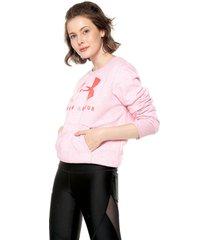 buzo rosado under armour lipstick