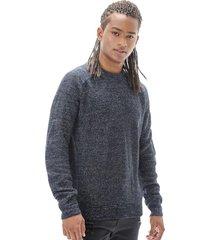 sweater tejidos r-neck melange negro corona
