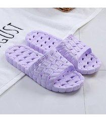 el verano mujeres hombres zapatilla ultra ligera suela de eva antideslizante pantuflas casual