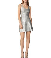 foiled fit & flare dress