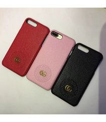 fashion style leather circle gu case apple iphone6/6s iphone7/8 plus iphonex