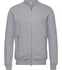 elm quilted cardigan - ocs/vegan gebreide trui cardigan grijs knowledge cotton apparel