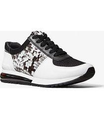 mk sneaker allie extreme in materiale misto - bianco ottico/nero (nero) - michael kors