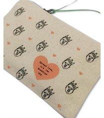 spread love, it's the brooklyn way biggie zip canvas pouch