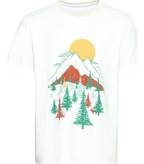 t-shirt van bio-katoen met print bergen, mint s