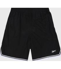 pantaloneta negro-blanco reebok