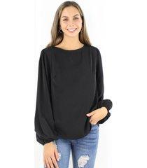 blusa pascuala negra jacinta tienda