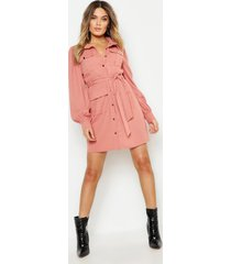 blouse jurk met utility zakken, rose