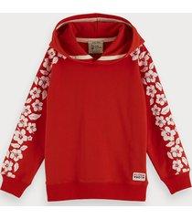 scotch & soda hawaiian flower artwork sweatshirt