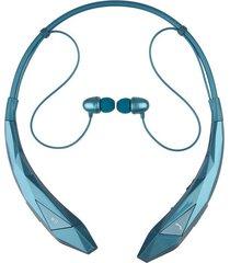 audífonos inalámbricos, hbs-902 estéreo inalámbrico audifonos bluetooth manos libres  4.0 auriculares hook auriculares flex neck correa auriculares con cancelación de ruido earbud, xse12 (azul)