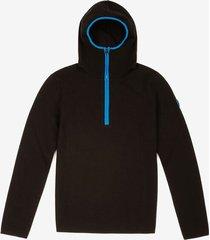 thermo padded hoodie black 42