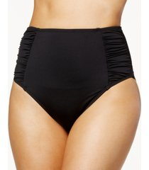 bar iii solid high-waist bikini bottoms, created for macy's women's swimsuit