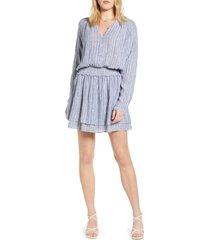 women's rails jasmine print long sleeve dress, size x-small - blue