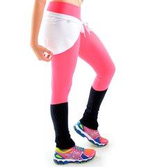 calã§a mama latina legging com polaina rosa - rosa - feminino - poliamida - dafiti
