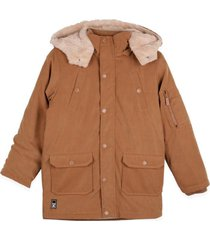 parka 4 bolsillos cafe pillin
