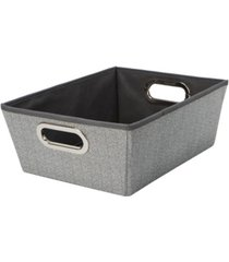 simplify medium herringbone grommet shelf tote in gray