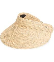 helen kaminski 'kirsten' packable raffia visor in natural at nordstrom