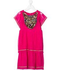 billieblush sequin-detail tiered dress - pink