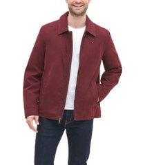 tommy hilfiger men's classic front-zip filled micro-twill jacket