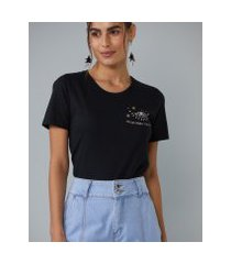 amaro feminino t-shirt hello from the future, preto