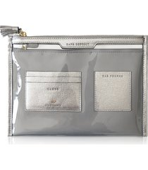 anya hindmarch designer wallets, vinyl and nylon safe deposit case