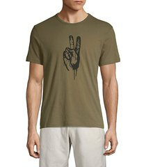 peace hand graphic tee