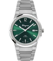 men's salvatore ferragamo f-80 classic bracelet watch, 41mm