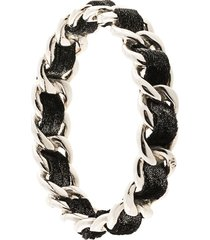 chanel pre-owned chain strap bracelet - black